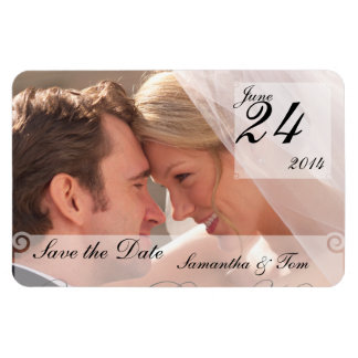 Custom Photo Save the Date Magnet