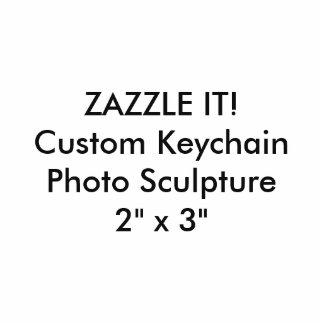 Custom Photo Sculpture Keychain Key Ring Blank