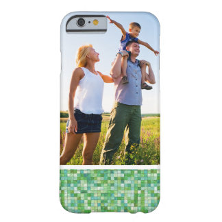 Custom Photo Smooth irregular green background Barely There iPhone 6 Case