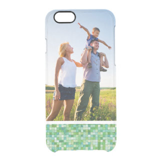 Custom Photo Smooth irregular green background Clear iPhone 6/6S Case