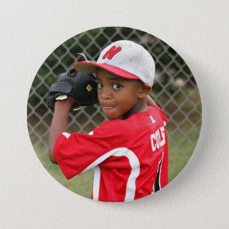 Custom photo sports button / pin