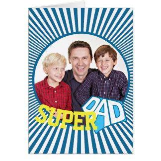 Custom Photo Super Dad Comic Card