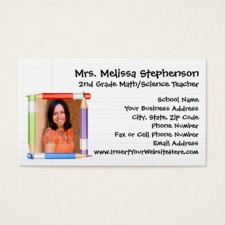 Custom Photo Teacher/School Business Calling Card