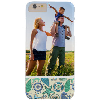 Custom Photo Teal Sea Animals Pattern Barely There iPhone 6 Plus Case