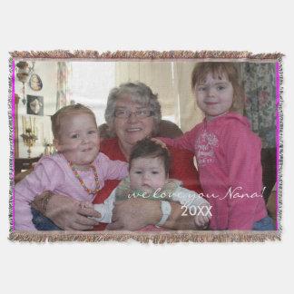 Custom Photo template Personalized Blanket Throw Blanket