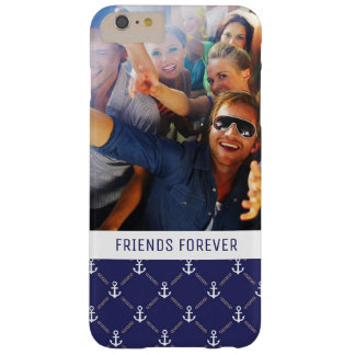 Custom Photo & Text Anchor pattern Barely There iPhone 6 Plus Case