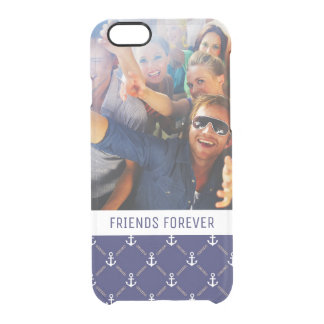 Custom Photo & Text Anchor pattern Clear iPhone 6/6S Case