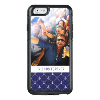 Custom Photo & Text Anchor pattern OtterBox iPhone 6/6s Case