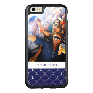 Custom Photo & Text Anchor pattern OtterBox iPhone 6/6s Plus Case