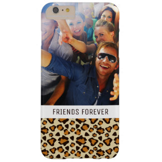 Custom Photo & Text Cheetah skin pattern Barely There iPhone 6 Plus Case