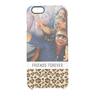 Custom Photo & Text Cheetah skin pattern Clear iPhone 6/6S Case