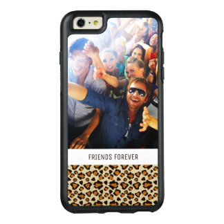 Custom Photo & Text Cheetah skin pattern OtterBox iPhone 6/6s Plus Case