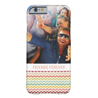 Custom Photo & Text Chevron Pattern 4 Barely There iPhone 6 Case