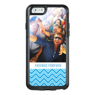 Custom Photo & Text Chevron Pattern Background OtterBox iPhone 6/6s Case