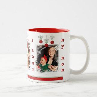 Custom Photo & Text Christmas Mom Mug