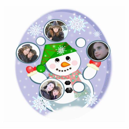 Custom Photo & Text Christmas Ornament Cut Out
