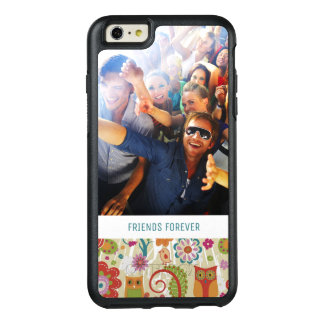 Custom Photo & Text Color Floral and Owl OtterBox iPhone 6/6s Plus Case