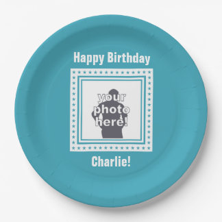 CUSTOM PHOTO, TEXT & COLOR paper plates