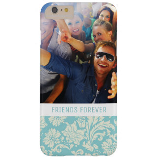 Custom Photo & Text Damask Pattern 3 Barely There iPhone 6 Plus Case