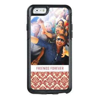 Custom Photo & Text Damask pattern wallpaper OtterBox iPhone 6/6s Case
