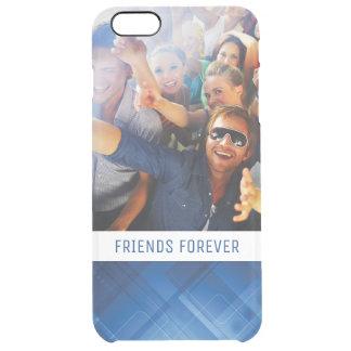 Custom Photo & Text Dark blue hi-tech background Clear iPhone 6 Plus Case