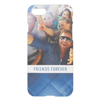 Custom Photo & Text Dark blue hi-tech background iPhone 7 Case