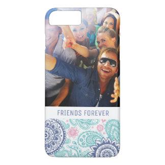 Custom Photo & Text Ethnic Paisley Pattern iPhone 7 Plus Case