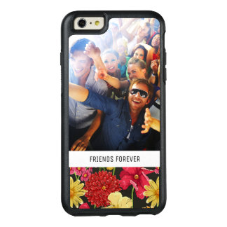 Custom Photo & Text Floral wallpaper watercolor OtterBox iPhone 6/6s Plus Case