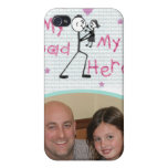 Custom Photo & Text For Dad iPhone 4/4S Covers