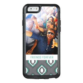 Custom Photo & Text Geometric Retro Ikat Pattern OtterBox iPhone 6/6s Case