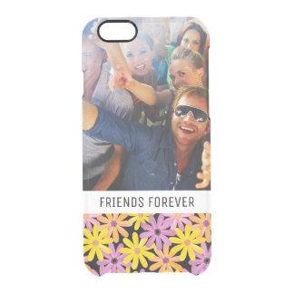 Custom Photo & Text Gerbera flowers pattern Clear iPhone 6/6S Case