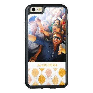 Custom Photo & Text Golden Ogee Pattern OtterBox iPhone 6/6s Plus Case