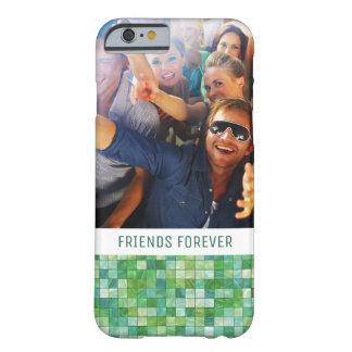 Custom Photo & Text irregular green pattern Barely There iPhone 6 Case