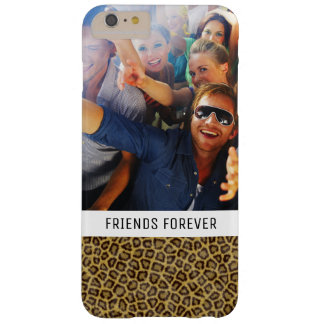 Custom Photo & Text Leopard Fur Barely There iPhone 6 Plus Case