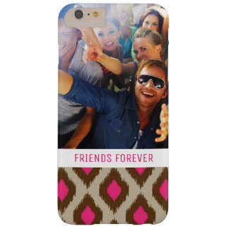 Custom Photo & Text Modern ikat pattern Barely There iPhone 6 Plus Case