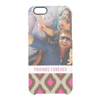 Custom Photo & Text Modern ikat pattern Clear iPhone 6/6S Case