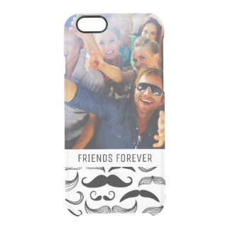 Custom Photo & Text Mustache pattern 2 Clear iPhone 6/6S Case