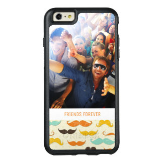 Custom Photo & Text Mustache pattern 3 OtterBox iPhone 6/6s Plus Case