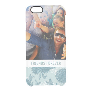 Custom Photo & Text Retro Floral Pattern 2 2 Clear iPhone 6/6S Case
