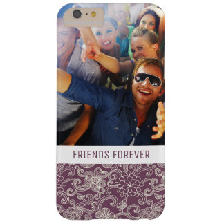 Custom Photo & Text Retro pattern Barely There iPhone 6 Plus Case