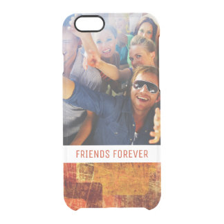 Custom Photo & Text Squares on grunge wall Clear iPhone 6/6S Case