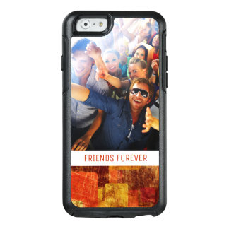 Custom Photo & Text Squares on grunge wall OtterBox iPhone 6/6s Case