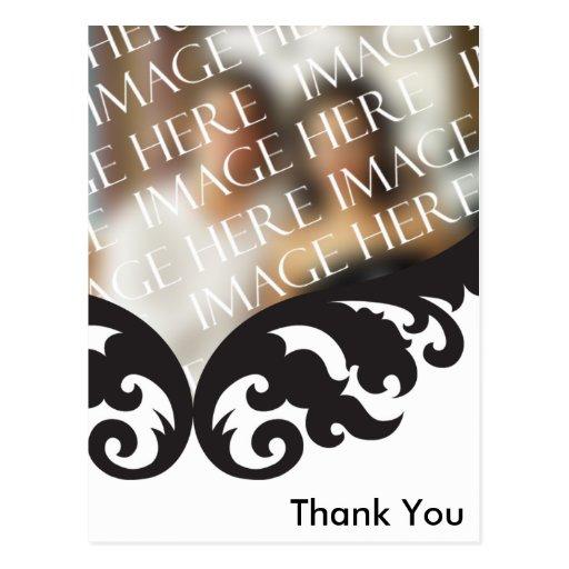 custom photo thank you card after wedding postcard zazzle