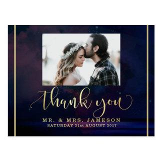 Custom Photo Thank You | Starry Night Sky Postcard