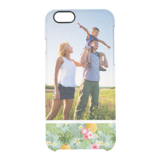 Custom Photo Tropical Flowers & Pineapples Clear iPhone 6/6S Case
