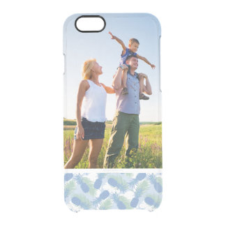 Custom Photo Tropical Pastel Pineapple Pattern Clear iPhone 6/6S Case