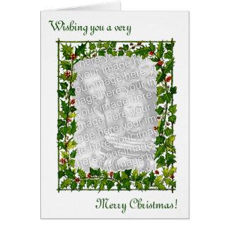 Custom Photo Vintage Christmas Card