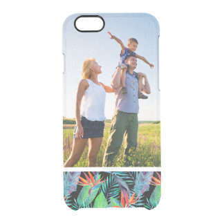 Custom Photo Watercolor Bird Of Paradise Clear iPhone 6/6S Case