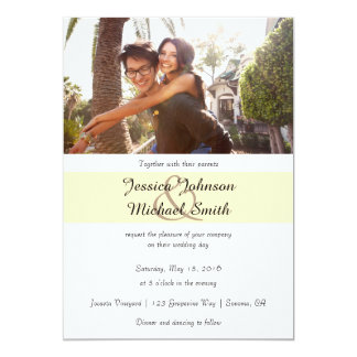 Custom Photo Wedding Card