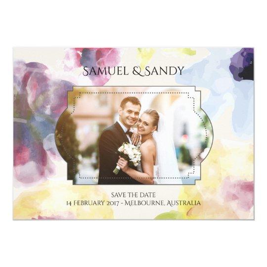 Custom Photo Wedding Invitation Card Colourful